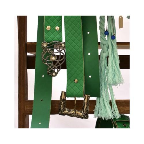 Δερμάτινη χειροποίητη ζώνη  πράσινη